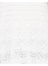 Long Sleeve Crochet Layered Top White - Gallery Image 4