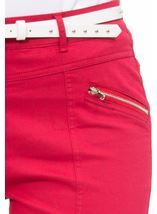 Belted Slimline Stretch Trousers Pepper - Gallery Image 4