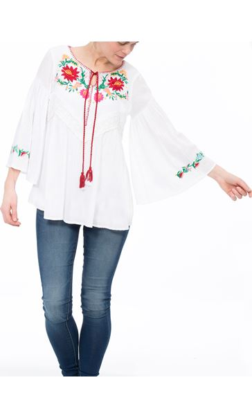 Floral Shadow Tunic White - Gallery Image 2