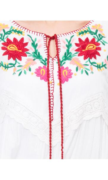 Floral Shadow Tunic White - Gallery Image 4