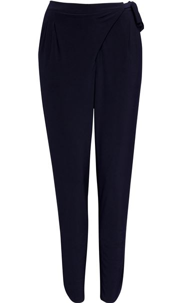 Tie Waist Tapered Trousers Midnight