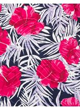 Anna Rose Printed Round Neck Top Pink/Navy - Gallery Image 4