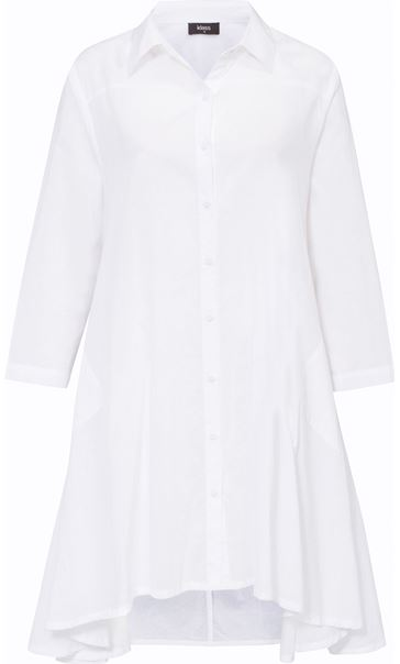 Oversized Dip Hem Shirt White