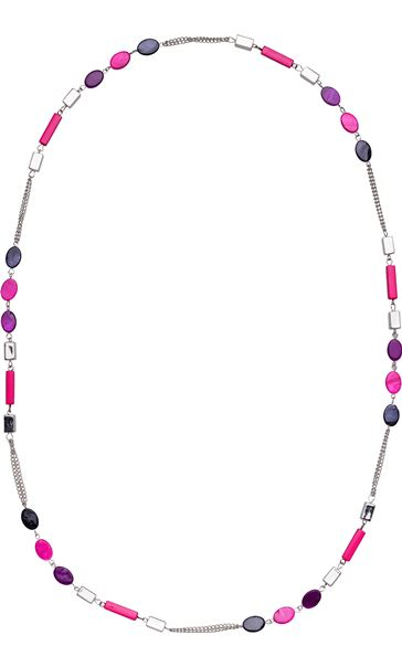 Shimmer Bead Longline Necklace