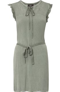 Washed Sleeveless Self Tie Tunic