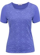 Anna Rose Embroidered Mesh Layered Top Iris - Gallery Image 1