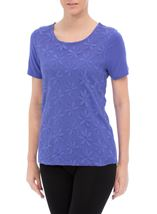 Anna Rose Embroidered Mesh Layered Top Iris - Gallery Image 2