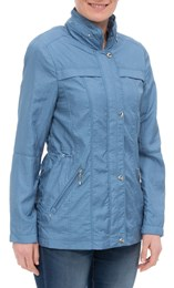 Anna Rose Lightweight Short Coat Chambray - Gallery Image 1