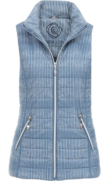 Anna Rose Padded Stripe Gilet