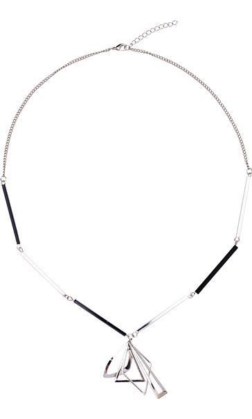 Geometric Necklace Silver/Black