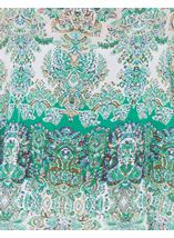 Layered Printed Kimono Top Green/Blue - Gallery Image 4