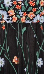Border Garden Embroidered Mesh Maxi Dress Black/Multi - Gallery Image 4