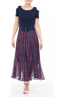 Cold Shoulder Parachute Maxi Dress