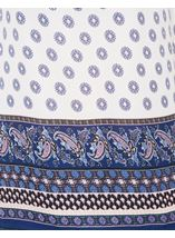 Border Printed Smocked Top White/Pink/Blue - Gallery Image 4