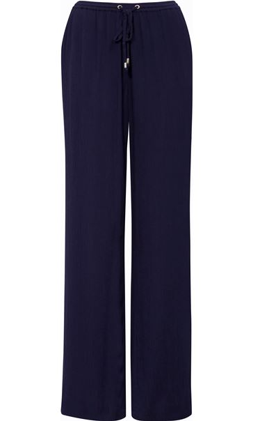 Anna Rose Wide Leg Pull On trousers Navy