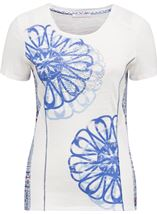 Anna Rose Short Sleeve Panelled Top White Tile - Gallery Image 1