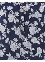 Anna Rose Printed Chiffon Blouse With Cami Navy/White - Gallery Image 4