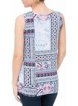Anna Rose Printed Vest Top Navy Tile - Gallery Image 3