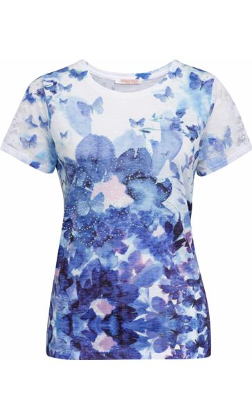 Anna Rose Butterfly Printed Jersey Top Lavender
