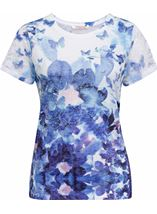 Anna Rose Butterfly Printed Jersey Top Lavender - Gallery Image 1