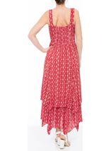 Printed Crinkle Shaped Hem Maxi Dress Pepper/White - Gallery Image 2