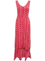 Printed Crinkle Shaped Hem Maxi Dress Pepper/White - Gallery Image 3