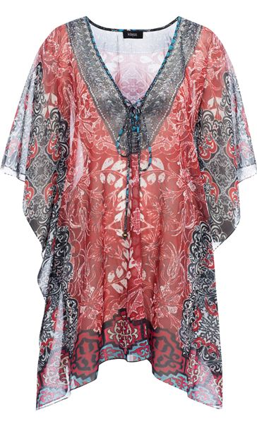 Printed Georgette Cover Up Pepper