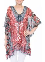 Printed Georgette Cover Up Pepper - Gallery Image 2