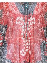 Printed Georgette Cover Up Pepper - Gallery Image 4