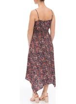 Sleeveless Hanky Hem Maxi Dress