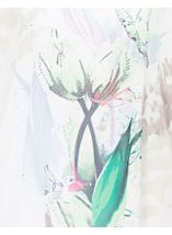 Printed Georgette And Jersey Top Ivory/Green - Gallery Image 4