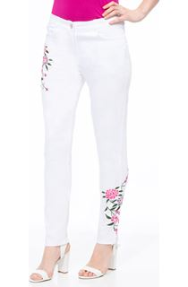 Floral Embroidered Slim Leg Jeans