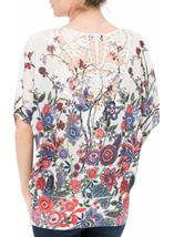 Embellished Garden Printed Georgette Top Reds - Gallery Image 3