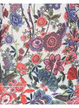Embellished Garden Printed Georgette Top Reds - Gallery Image 4