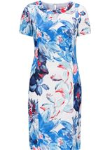 Anna Rose Floral Printed Midi Dress Cobalt/Ivory - Gallery Image 1