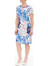 Anna Rose Floral Printed Midi Dress Cobalt/Ivory - Gallery Image 2