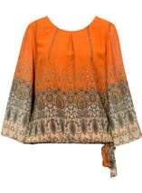 Printed Georgette Bell Sleeve Top