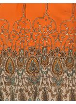 Printed Georgette Bell Sleeve Top Orange - Gallery Image 4
