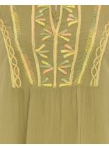 Sleeveless Embroidered Tassel Tunic