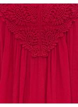 Sleeveless Crochet Trim Top Pepper Red - Gallery Image 4