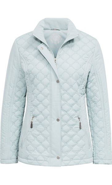 Anna Rose Quilted Coat Mint