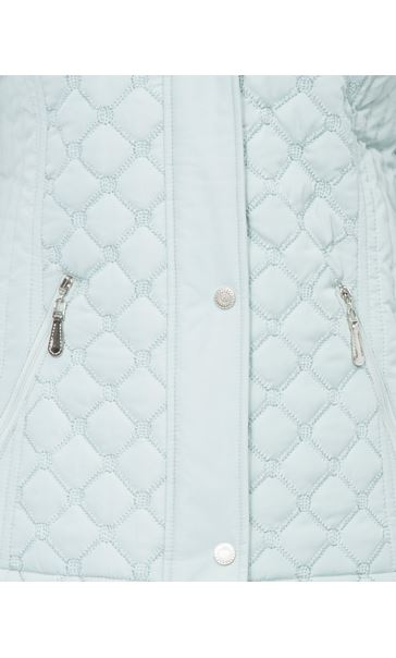 Anna Rose Quilted Coat Mint - Gallery Image 4