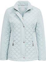 Anna Rose Quilted Coat Mint - Gallery Image 1