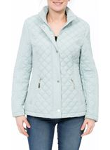 Anna Rose Quilted Coat Mint - Gallery Image 2