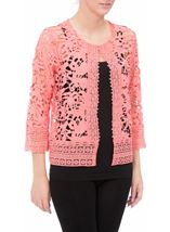 Anna Rose Lace Open Cover Up Coral - Gallery Image 2