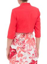 Anna Rose Open Shantung Jacket Deep Coral - Gallery Image 3