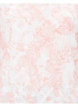 Anna Rose Textured Shimmer Top Ivory/Coral - Gallery Image 4