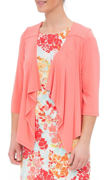 Anna Rose Embellished Jersey Cover Up Coral