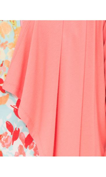 Anna Rose Embellished Jersey Cover Up Coral - Gallery Image 4