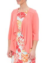 Anna Rose Embellished Jersey Cover Up Coral - Gallery Image 1